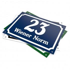 Hausnummernschild - Wiener Norm Hausnummernschilder