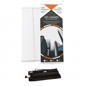 L-Banner  80x160-210cm Roll-Ups 109,00€