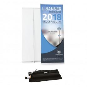 L-Banner 85x160-210cm Roll-Ups 119,00€