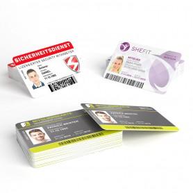 Plastikkarten | einseitig Plastikkarten 5,50€