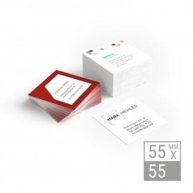 Visitenkarten | 55x55mm - einseitig Visitenkarten einseitig 39,90€