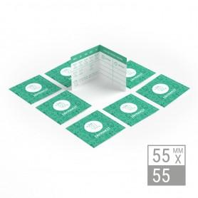 Klappvisitenkarten | 55x55mm Klappvisitenkarten 179,80€