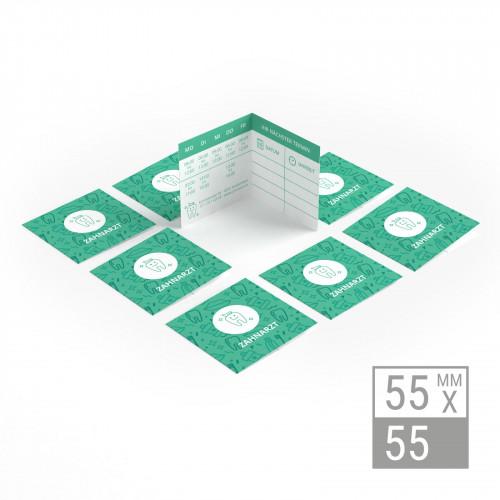 Klappvisitenkarten | 55x55mm Klappvisitenkarten