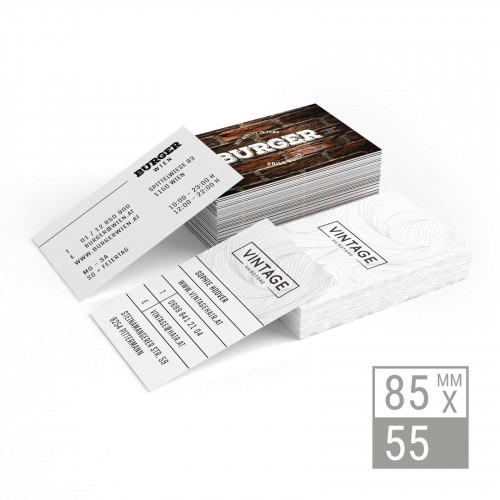 Visitenkarten 85x55mm Beidseitig