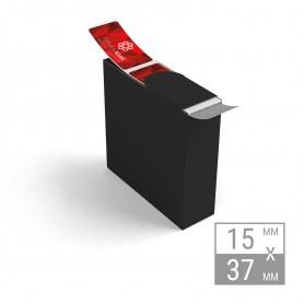 Etiketten auf Rolle | 15x37mm Etiketten in Spenderbox