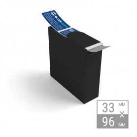 Etiketten auf Rolle | 33x96mm Etiketten in Spenderbox