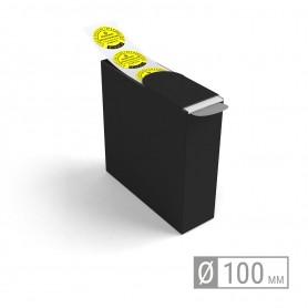 Etiketten auf Rolle | rund 100mm Etiketten in Spenderbox
