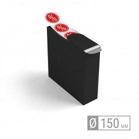 Etiketten auf Rolle   rund 150mm Etiketten in Spenderbox