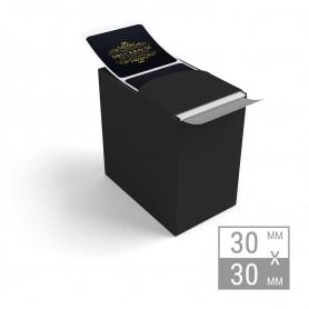 Etiketten auf Rolle | 30x30mm Etiketten in Spenderbox