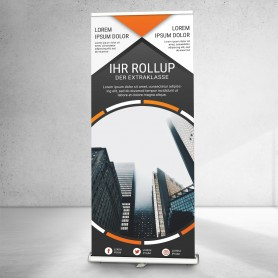 Roll-Up inkl. System | 85x160-200cm Roll-Ups & L-Banner