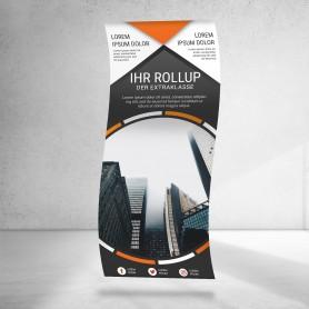 Roll-Up Bespannung | 85x160-200cm Roll-Ups & L-Banner