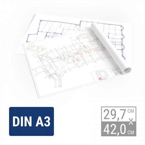 Plandruck Farbe | A3 Plandruck
