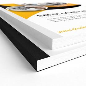 Leinenrückenbindung | freie Formateingabe Gebundene Unterlagen