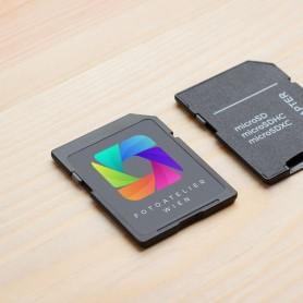 Druck auf Ihren Speicherkarten Druck auf Kunststoff 0,00€