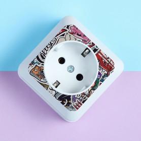 Druck auf Ihre Steckdosen Druck auf Kunststoff