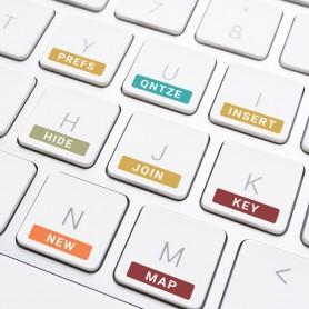 Druck auf Ihre Tastatur Druck auf Kunststoff