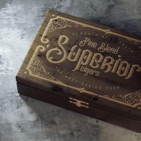 Druck auf Ihre Zigarrenbox Druck auf Holz 0,00€