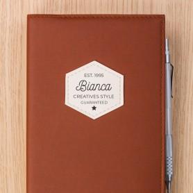 Druck auf Ihr Leder-Notizbuch Druck auf Leder