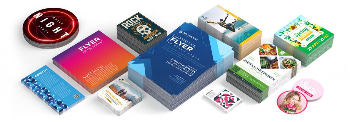 ◤ Flugblätter & Karten   DRUCKRAUM.at