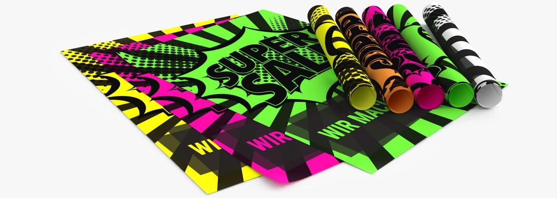 ◤ Neon Plakate» Auffällig & günstig | DRUCKRAUM.at
