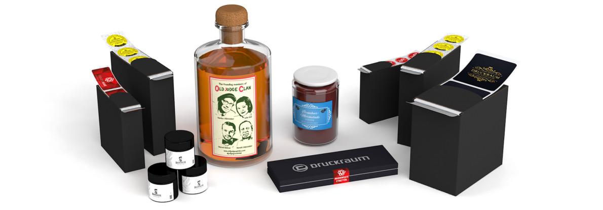 ◤ Etiketten in praktischer Spenderbox   DRUCKRAUM.at